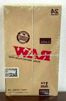 Raw 1.25  Classic Hemp Rolling Paper Full Box 24 pk~Sealed B