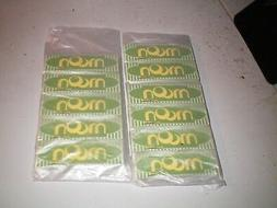 """10 Books  Moon """"Green"""" 1.0 Hemp Tobacco Rolling Papers"""