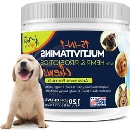 15-In-1 Multivitamin for Dogs - Probiotics, Hemp and Omega D