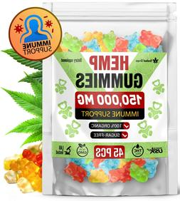 150,000 MG Hemp Gummies for Pain & Anxiety - Immune System B