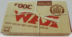 "Raw 300's Organic Hemp Rolling Papers 1.25""/ 300 Papers!! **"