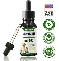 500 MG Pet Hemp Oil for Dogs Cats Pure Extract Anxiety Relie