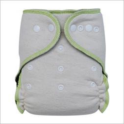 Baby Stay-Dry Hemp Night Fitted Cloth Diaper, One Size