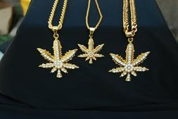 Cannabis Marijuana Hemp Leaf Necklace