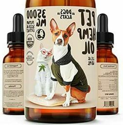 DOGS & CATS PET Hemp Oil 35000 MG Anxiety & Pain Relief Supp