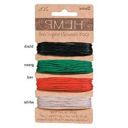 Hemp Cord Set Assorted Primary Colors  20lb weight 120 feet