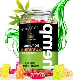 Hemp Gummies 10000 MG - 100mg per Yummy Gummy - Made in USA