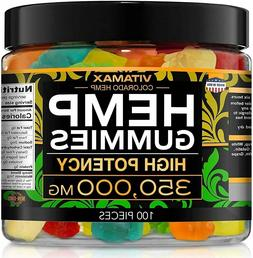 Hemp Gummies for Stress Relief - 350000mg - Gummy - Great fo