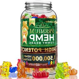 Hemp Gummies Premium 1,500,000 XXL High Potency Fruity Gummy
