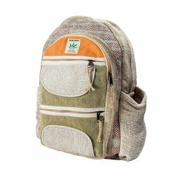Hemp Laptop Backpack Multi Pocket All Natural Handmade Unise