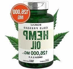 COLD PRESSED HEMP SEED OIL CAPSULES 1400 mg 180 Softgels Ome