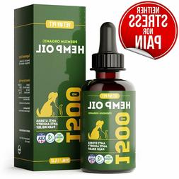Hemp Oil for Dogs and Cats - Provides Dog Anxiety Relief - I