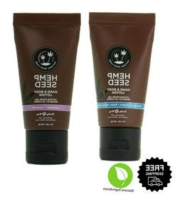 Earthly Body Hemp Seed Hand and Body Lotion Argan Oil Travel