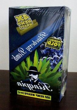 Kingpin Hemp Wraps Blueberry Bomb 25 Packs~4pk = 100 total~F