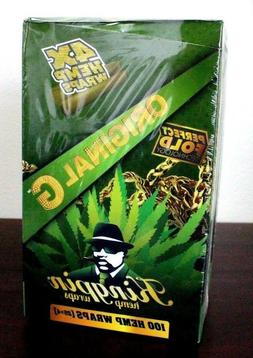 Kingpin Hemp Wraps Original 25 Packs~4pk = 100 total~Factory