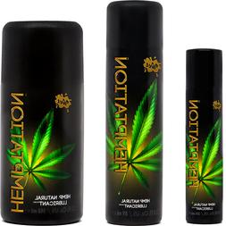 WET Hemptation Hemp Natural Lubricant - Choose Size