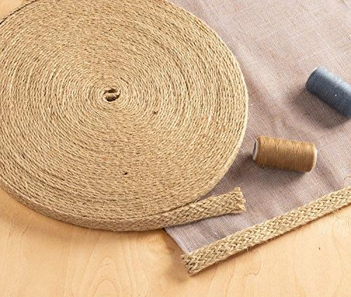 Burlap Natural Jute Roll, Burlap with Twine for and DIY Wedding inches Wide
