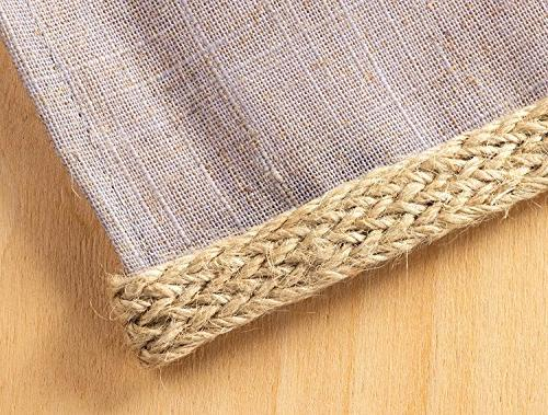 Burlap Ribbon - Burlap Twisted Hemp Rope for Crafts, inches Wide
