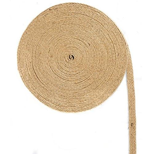 Natural Jute Burlap Spool Twisted Hemp Rope Strings for Arts and DIY inches Wide