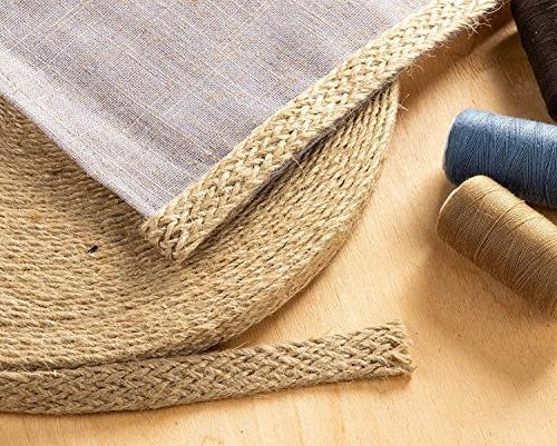 Burlap - 25-Yard Natural Burlap Twisted Rope for and DIY Wedding Decorations, 0.5 inches