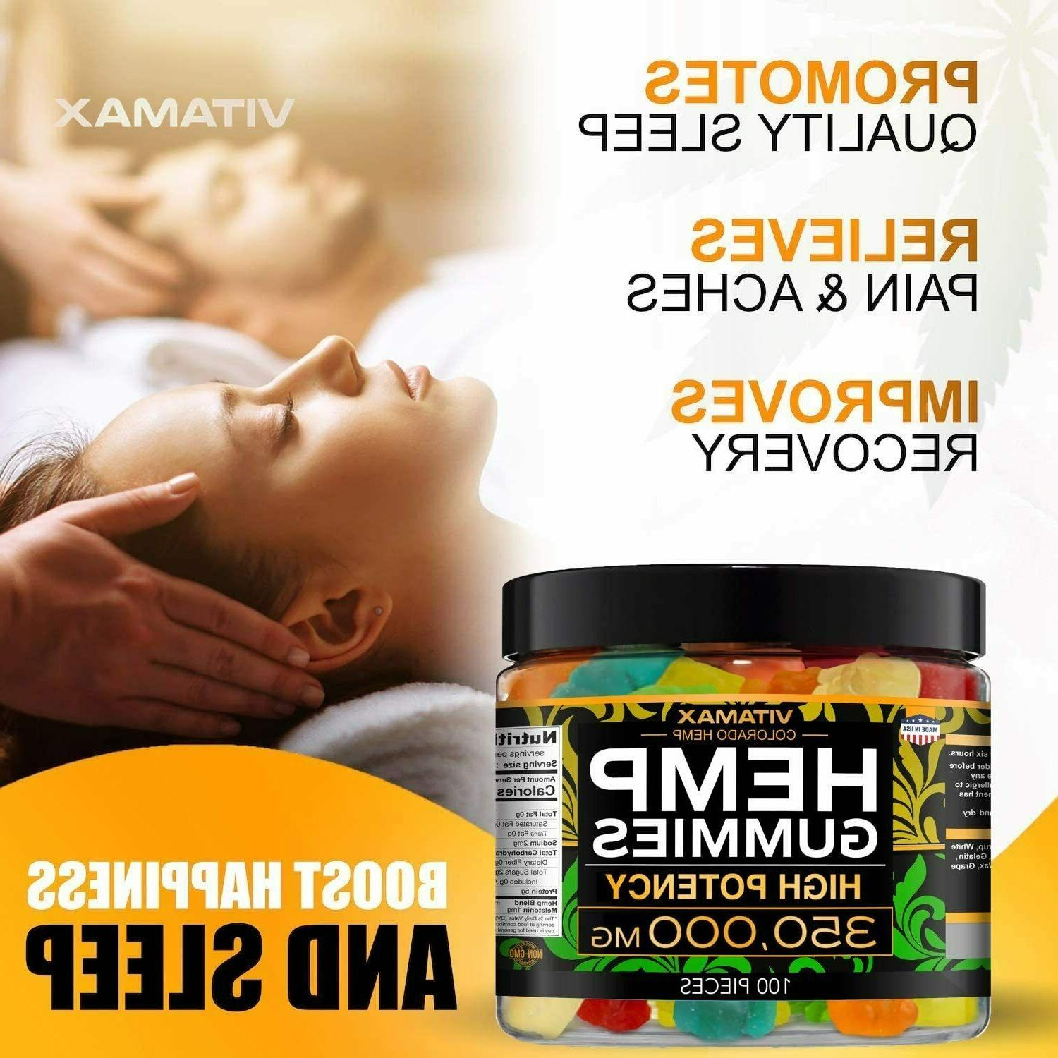 Hemp for Relief - 350000mg Gummy - Great for Stress,