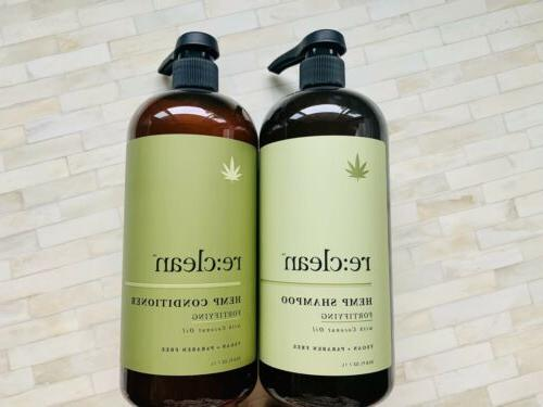 re hemp shampoo conditioner fortifying coconut oil