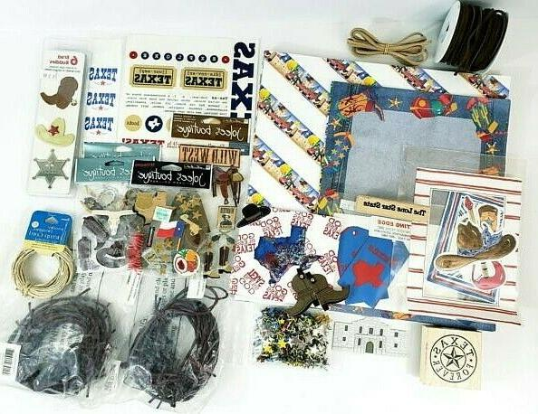 lot of texas scrapbooking paper stickers stamps