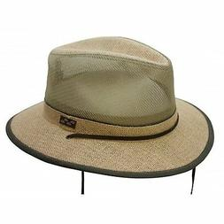 New Conner Hats Men's Nathan Hemp Mesh Hiker Hat, Camel, XL