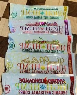 HIGH HEMP ORGANIC ARTISANAL CONES VARIETY PACK 5 PACKS 10 CO