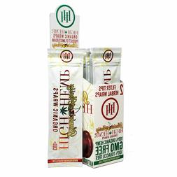 High Hemp Organic Wrap Blazin' Cherry Full Box 25 Pouches, 2