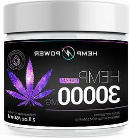 Hemp Power Pain Relief Cream -30000MG - Relieves Muscle, Joi