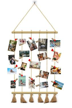 Photo Display Pendant Hanging Hemp Rope Creative Postcard Wa
