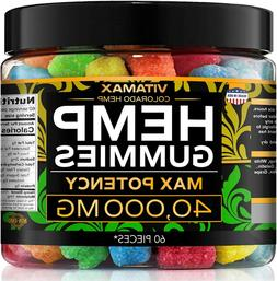 Premium Hemp Gummies 40000 MG Anxiety Stress & Pain Relief M