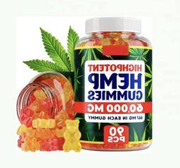 Premium Hemp Gummies 60000 MG Anxiety & Stress Relief Inflam