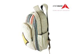 Pure Hemp backpack Multi Pockets For laptop Sleeve Carry to