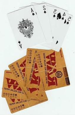 RAW Cigarette Rolling Papers PLAYING CARDS - Classic Organic