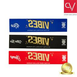 Vibes Rolling Papers KING SLIM Size Rice, Hemp, Ultra-Thin 3